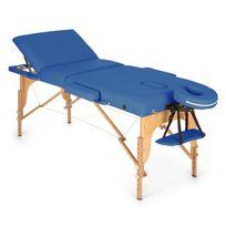 Klarfit - Mt 500 Table de massage pliante 210 cm 200 kg mousse fine -bleu