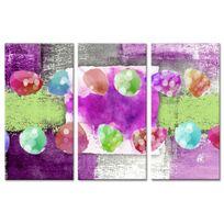Declina - Tableau triptyque sur toile imprimée moderne colorée