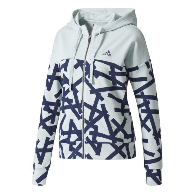 Adidas Veste à capuche femme Essentials Graphic Vert pâle