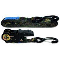 Docks - Gmar21 Sangle Polyester Tendeur À Cliquet + 2 Crochets 350 Kg 25 Mm L 5 M
