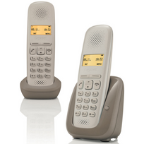 GIGASET - téléphone sans fil duo dect - a150 duo umbra