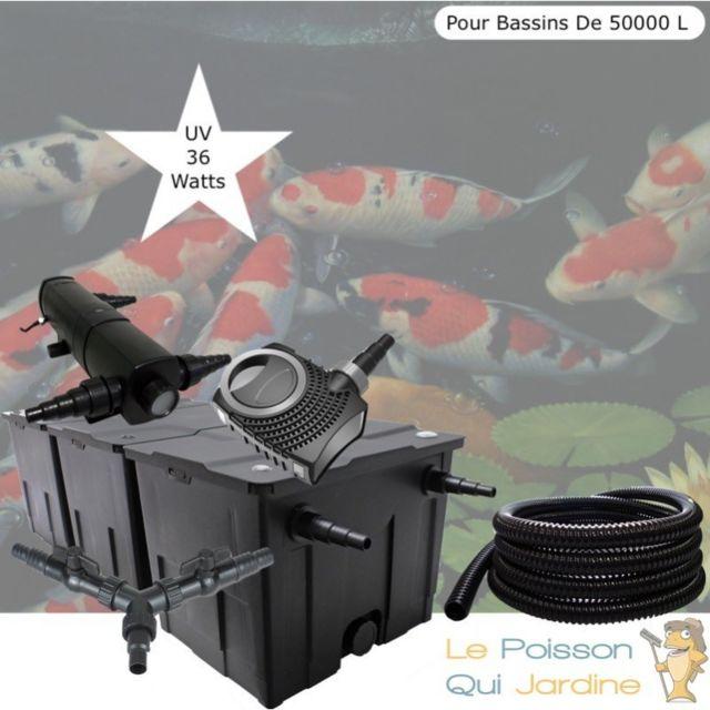 Le Poisson Qui Jardine Kit Filtration, Uv 36W, Pour Bassins De Jardin De 50000 L