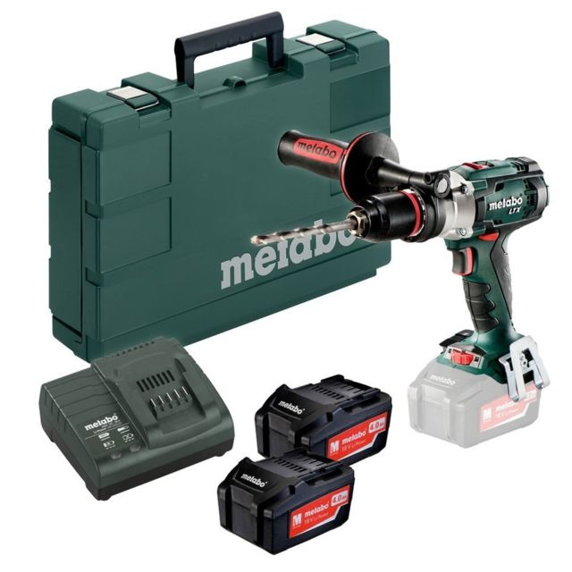 METABO - Perceuse visseuse à percussion 2x4,0Ah Li-Ion en coffret - Sb18LTX Impuls