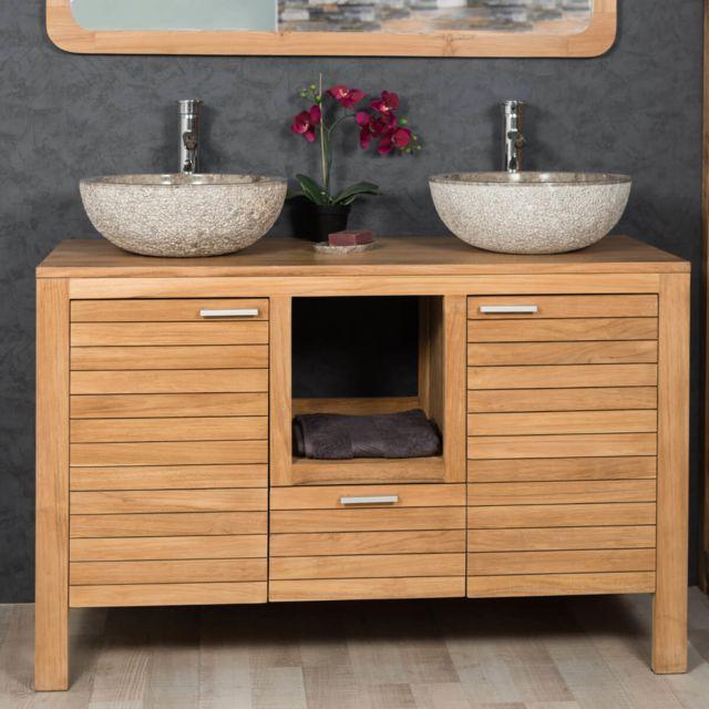 Wanda Collection - Meuble sous vasque en teck Courchevel 120 Bois ...