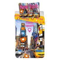 Home - New York Times Square - Parure de Lit - Housse de Couette Coton