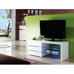vente unique meuble tv faisceau 3 tiroirs laqu blanc leds - Meuble Tv Blanc Vente Unique