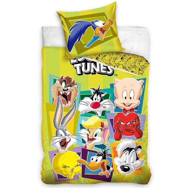 Bebe Gavroche Parure de lit Looney Tunes 100% coton 140x200 cm