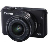 CANON - Appareil photo hybride - EOS M10 noir avec objectif 15-45mm