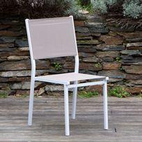 Les Essentiels by Dlm - Chaise de jardin lot de 2, en aluminium et polyester enduit Sunny