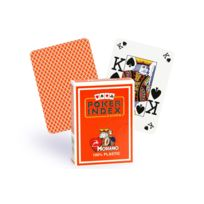 Modiano - Cartes Poker Index 100% plastique orange