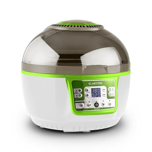 KLARSTEIN VitAir Turbo Friteuse sans huile grill cuisson 9L 1400W -vert & blanc