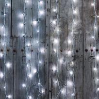 Blachere Illumination - Rideau guirlande lumineuse led effet chute de neige Blanc pur