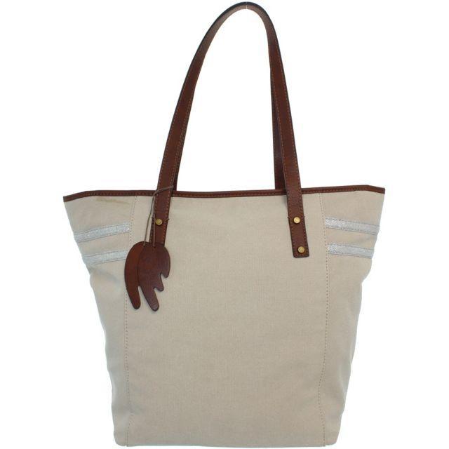 Francinel - Sac porté épaule ref_lhc39041-beige