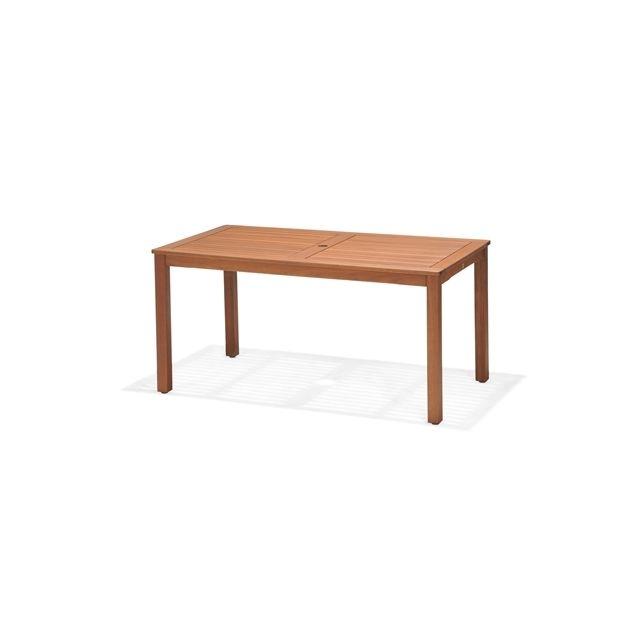 KINGSBURY - Table de jardin rectangulaire avec trou pour parasol en ...