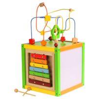 WOOD N PLAY - Cube d'éveil 5 jeux