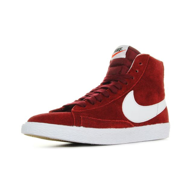 37 Pas Achat Blanc Cher 12 Rouge Suede Blazer Mid Wmns Nike xqRPYY