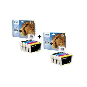 epson cartouches t0715 b c m y pack couleurs x2 pas cher achat vente cartouche d 39 encre. Black Bedroom Furniture Sets. Home Design Ideas