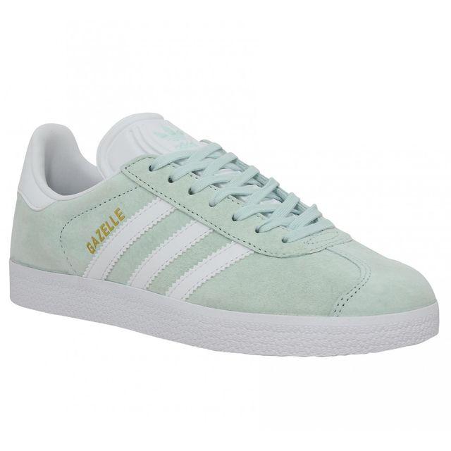 Adidas - Gazelle-36 2/3-Ice Mint Vert - pas cher Achat / Vente Baskets femme - RueDuCommerce