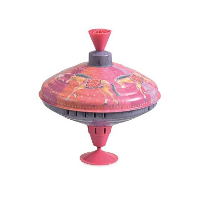 SAMTITY Jouet /à toupie avec LED Pousser Spinning Top Toy avec LED et Musique Spinning Top Toys Musique Peg-Top Toddlers Spinning Gyro Toy Gift pour Enfants
