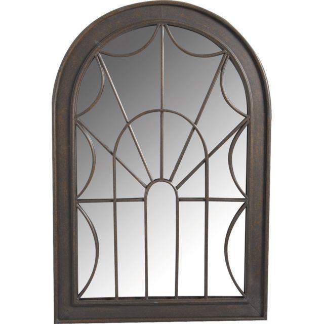 AUBRY GASPARD Miroir en métal à motif