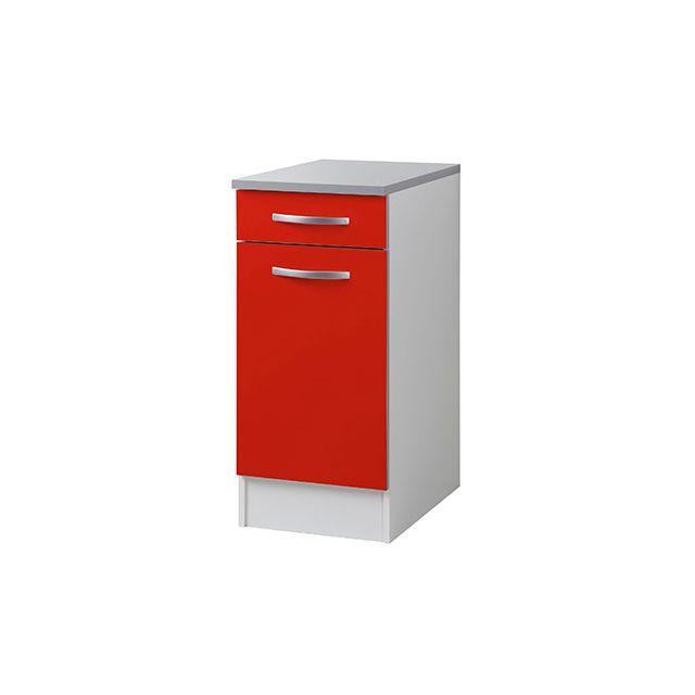 Meuble bas L40xH86xP60cm - rouge