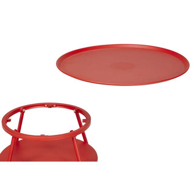 HYBA - Table basse de jardin Alu 151 - Rouge