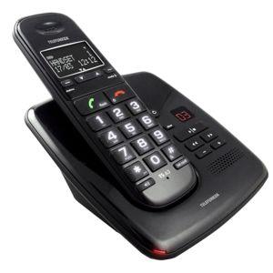 telefunken pillow td351 bk t l phone sans fil avec r pondeur noir pas cher achat vente. Black Bedroom Furniture Sets. Home Design Ideas