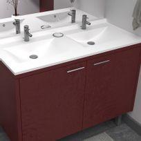 Creazur - Plan double vasque en résine RÉSIPLAN - 120 cm