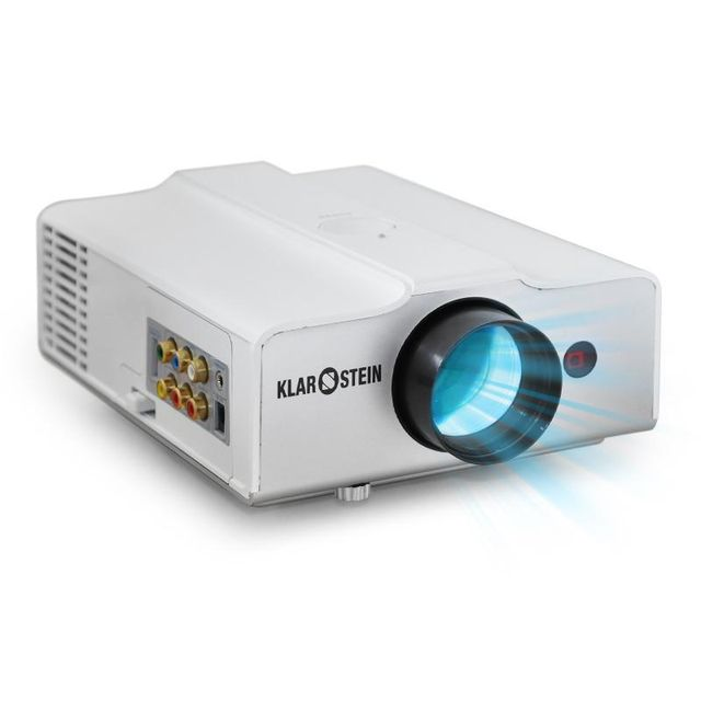 AUNA - EH3WS Videoprojecteur LED compact HDMI -blanc