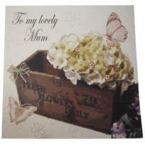 White Cotton Cards - Md12 JardiniÈRE Inscription To A Lovely Mum