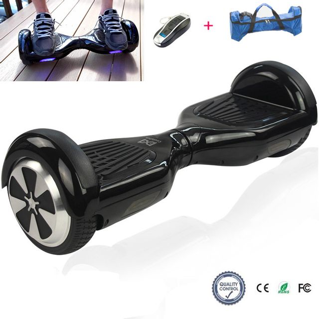 Cool And Fun - Cool&FUN Hoverboard, Scooter électrique Auto-équilibrage,gyropode 6,5 pouces Noir