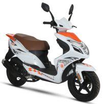 Eurocka - Scooter R8 Qt-22 50cc 4Temps Orange/Blanc