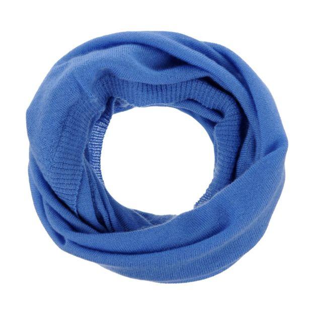 Les Poulettes Bijoux Echarpe Tube 100% Cachemire 2 Fils Classics - Bleu ciel