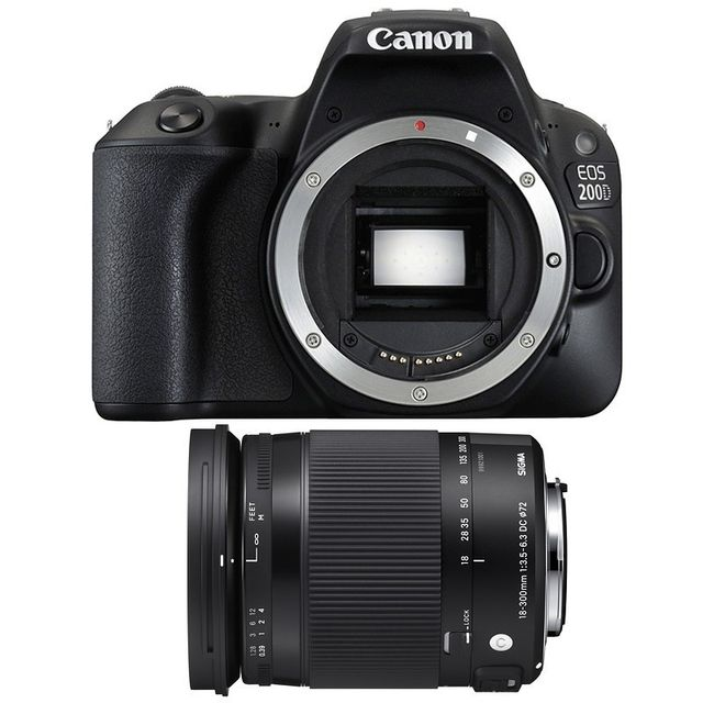 Canon Eos 200D + Sigma 18-300mm F3.5-6.3 Dc Os Hsm Contemporary Garanti 3 ans