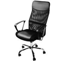 Rocambolesk - Superbe Fauteuil chaise de bureau noir ergonomique rembourré Dossier Hauteur ajustable Neuf