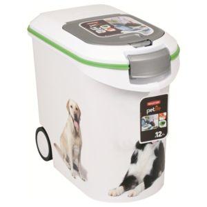 Curver conteneur croquettes pour chien 12kg blanc for Conteneur moins cher