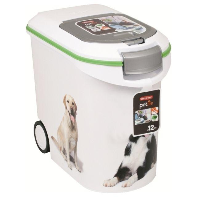 curver conteneur croquettes pour chien 12kg blanc pas cher achat vente gamelle pour. Black Bedroom Furniture Sets. Home Design Ideas