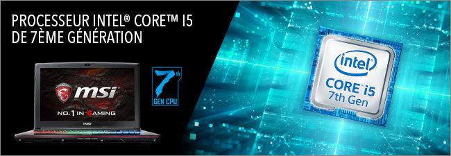 MSI GP62 - Processeur Intel Core i5 7th
