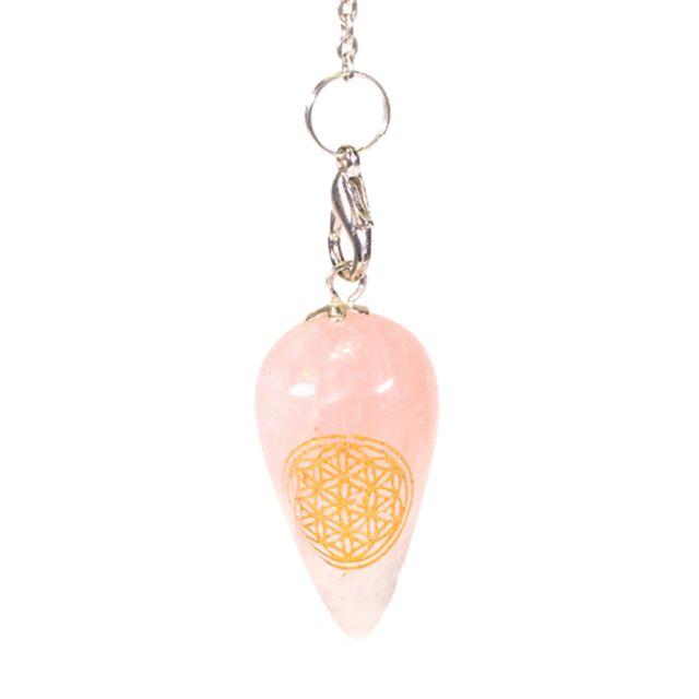 phoenix pendule en quartz rose fleur de vie pas cher. Black Bedroom Furniture Sets. Home Design Ideas