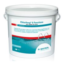 BAYROL - chlore lent 5 fonctions galet 5kg - chlorilong 5 fonctions
