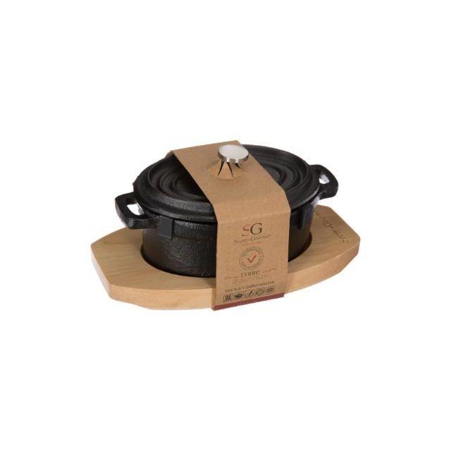 Générique Mini Cocotte Ovale 12x9cm Fonte