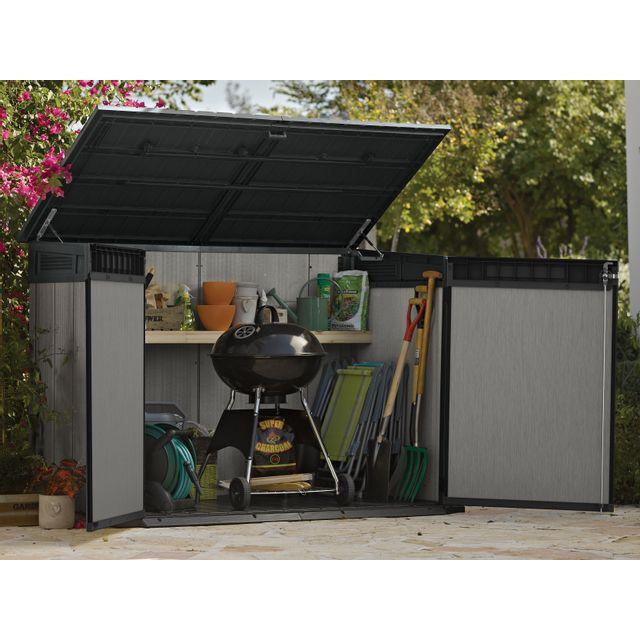 keter coffre de jardin oakland 2100l anthracite 111m x 190m x 133m pas cher achat vente. Black Bedroom Furniture Sets. Home Design Ideas