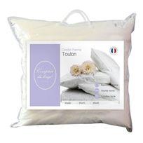 Comptoir du linge - Cdlosm40 Oreiller Toulon Garnissage Polyester Blanc 60 X 40 X 10 Cm - Cdlosm40