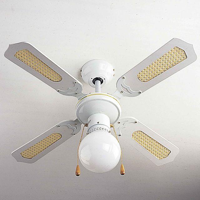 provence outillage ventilateur de plafond blanc pas. Black Bedroom Furniture Sets. Home Design Ideas