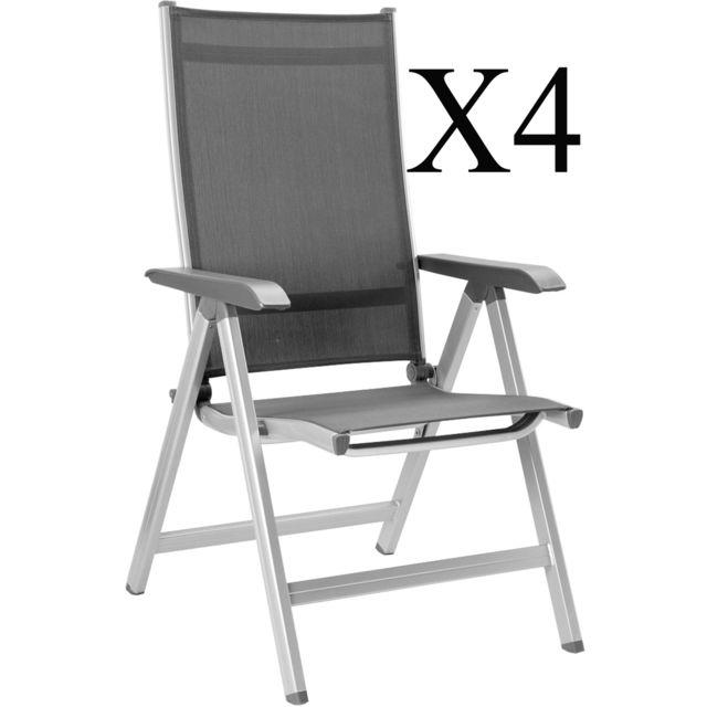 multipositions coloris Lot fauteuils Pegane 4 de argent KlcuTF1J3