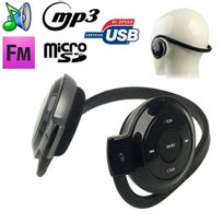 Yonis - Casque sport lecteur audio Mp3 sans fil Radio Fm Running Micro Sd