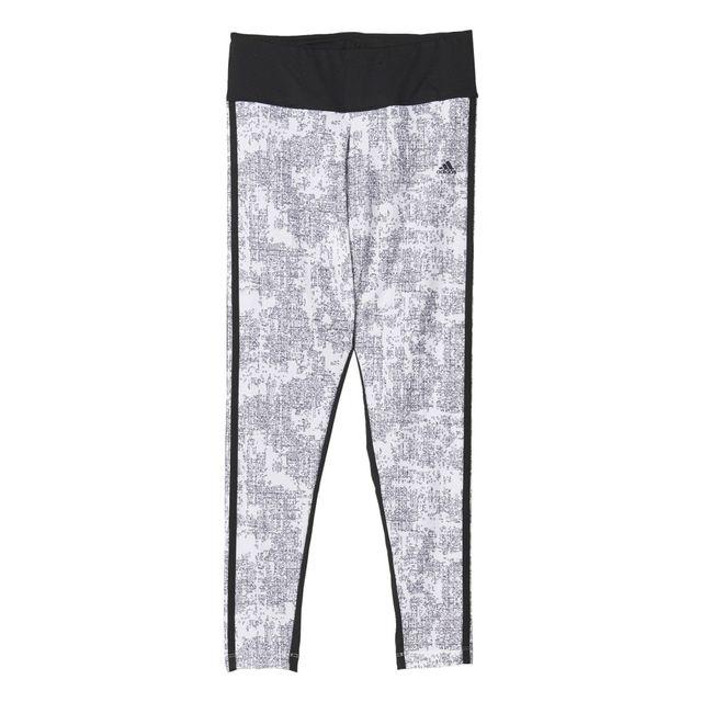 Adidas performance - Coll Essentials 3-stripes Print Blanc Collants -  Leggings Femme Multisports 4aa6194f4d6