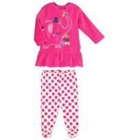 1befab98f7b71 Petit Beguin - Pyjama bébé 2 pièces velours avec pieds Me and You - Taille -