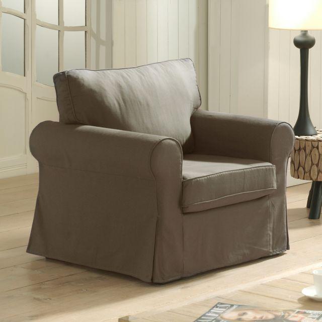 Marque Generique Canapé fauteuil fixes chocolat Jaipur