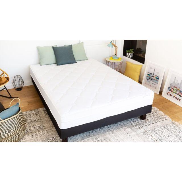 hbedding ensemble matelas m moire sommier 160x200 memo visco mousse haute densit et. Black Bedroom Furniture Sets. Home Design Ideas
